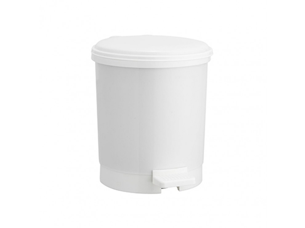 ถังขยะเหยียบพลาสติก 3 ลิตร UTBY ขาว